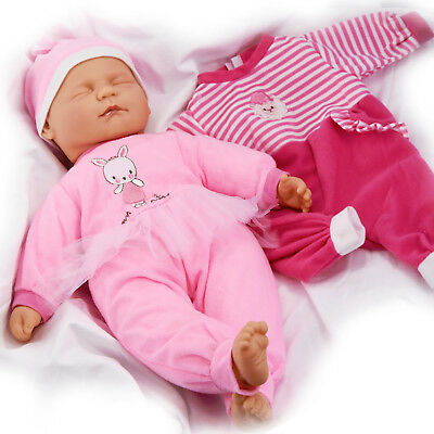 Sleeping Baby Doll in Box New Born Soft Bodied Vinyl Doll with Extra Outfit,18in