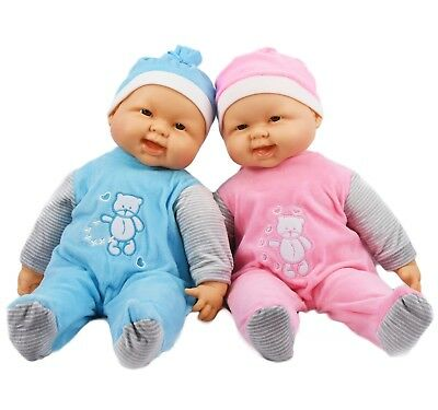 "20"" Lifelike Large Soft Bodied Baby Doll Chubby Happy Face Girls Boys Play Toy"