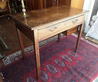 Antique Period Oak Side Hall Writing Table Circa 1800.