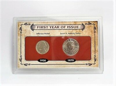 American Coin Treasure First Year of Issue 1938 Nickel & 1979 Dollar