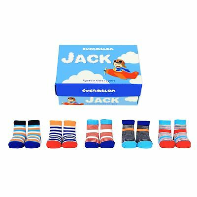 Cucamelon My First Christmas Set 5 Pairs Baby Socks 0-12 Months Festive Gift Box