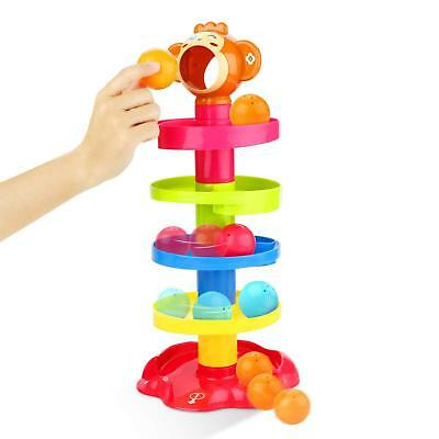 Drop and Go Roll The Ball Monkey Ramp Stacking Tower Baby Construction Kids Toy
