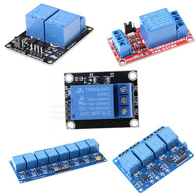 5V 1/2/4/8 Channel Relay Board Module Optocoupler LED for Arduino PiC ARM AVR PO