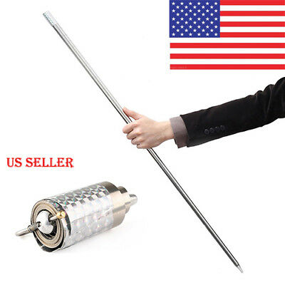 New Metal  Appearing Cane Magic Close Up Illusion Silk to Wand Tricks USA