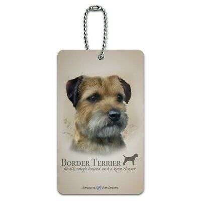 Border Terrier Dog Breed Luggage Card Suitcase Carry-On ID Tag