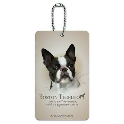 Boston Terrier Dog Breed Luggage Card Suitcase Carry-On ID Tag