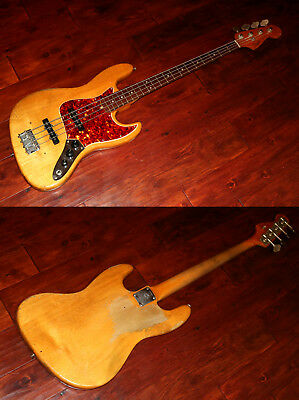 1965 Fender Jazz Bass, Natural refin  (FEB0331)