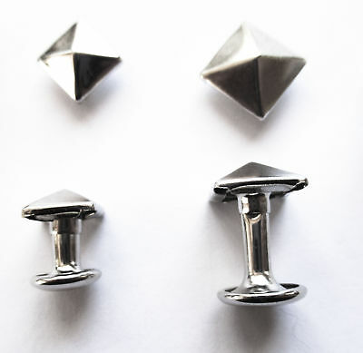 Dimensional rivets - Silver Square Pyramid 10mm or 8mm rivets