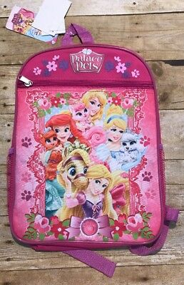 f27a66eefc4 Girls Book bag Disney Princesses Palace Pets Backpack Pink And Purple  School New