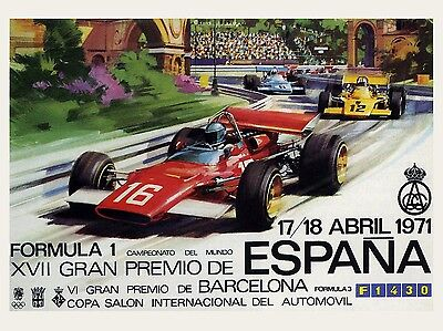 Gran Prix Espana, Retro metal Aluminium Sign Vintage Garage shed Man Cave wall