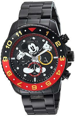 Invicta 24957 Men's Disney Limited Edition Chronograph 44mm Black Dial Watch