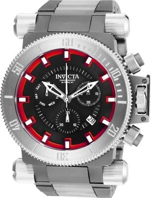 Invicta 26638 Coalition Forces Men's 51mm Stainless Steel Black Red Dial Watch