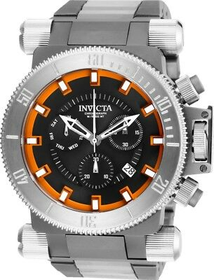 Invicta 26640 Coalition Forces Men's 51mm Stainless Steel Black Orange Dial