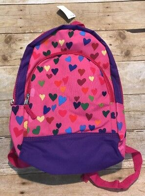Girls Book bag Hearts Backpack Purple Pre-k Kindergarten Pink School