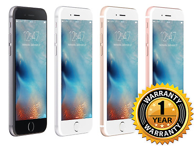 "Apple iPhone 6S 128GB GSM Unlocked 4.7"" Display Smartphone 1 YEAR WARRANTY"