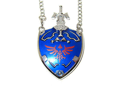 The Legend Of Zelda Master Sword Hylian Shield White Sheath Pendant Necklace