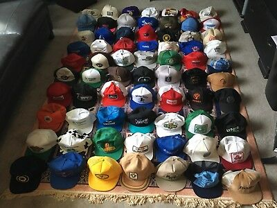 Vintage trucker hat Lot 70 hats John Deere, Ditch witch, enron, NRA