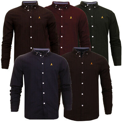 Mens Brave Soul Holmes Stylish Brushed Cotton Designer Long Sleeve Shirt