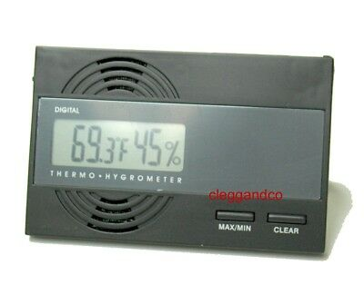 Credit Card Size Digital Hygrometer Thermometer Humidity Gauge For Cigar Humidor