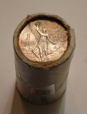 1984 Mexican Libertad Roll Of 20 Silver 1Oz Coins Mexico In Original Paper Tube