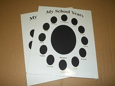 My School Year in Gold photo Album Mat Ready For Frame 11 X 14 (CR Framing)