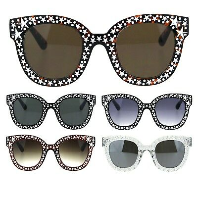 d7a9693448235 NEW BLING CAT Eye Sunglasses Star Rhinestone Frame Women Fashion ...