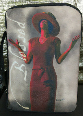 """""""BLESSED"""" Zipper Medium BIBLE COVER African American Women Praise Religious NWT"""