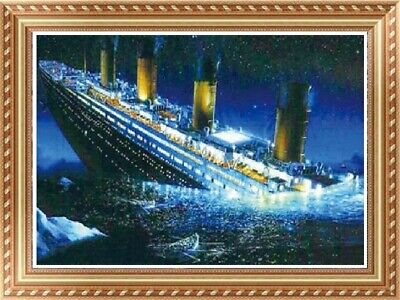 AU Titanic Full Drill 5D Diamond Embroidery Painting Cross Stitch Kit Decor HN