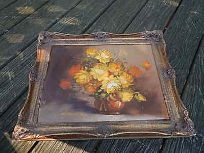 Antique Signed Robert Cox Style Framed Oil On Canvas Painting International Sale