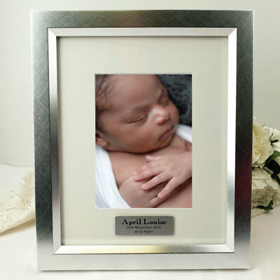 Silver Baby Photo Frame with Personalised Message - Personalised Custom Gift