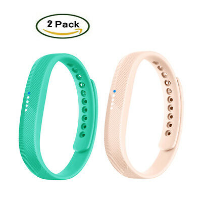 2Pack Replacement Wristband Wrist Strap Watch Band S L For Fitbit Flex 2 Fitness