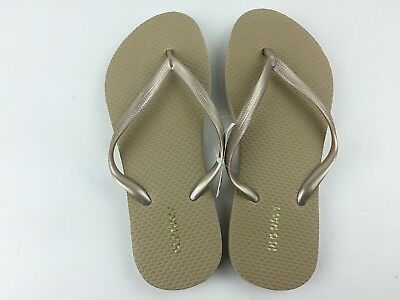 297356f3ad3 OLD NAVY CLASSIC Flip Flops Sandal Womens 6 8 9 10 11 NWT New Gold ...