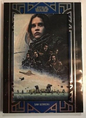 2018 Topps Star Wars Galactic Files Movie Poster Patch Ma-Sg Saw 29/99 Blue