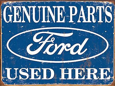 Genuine Parts Ford, Retro metal Aluminium Sign vintage wall garage man cave shed