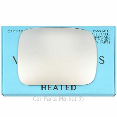 Nissan Terrano 1993-2006 left side heated convex mirror glass /& plate 143LSHP