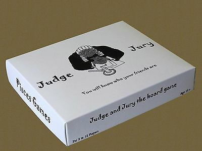 Judge and Jury. Adults party board game. Pisces Games. New