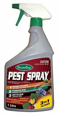 Brunnings Pest Spray 3IN1 For Roses & Other Ornamentals 1L