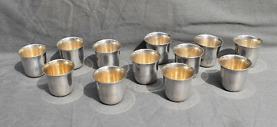 CARDEILHAC 1900 french sterling silver 12 liquor / vodka goblets