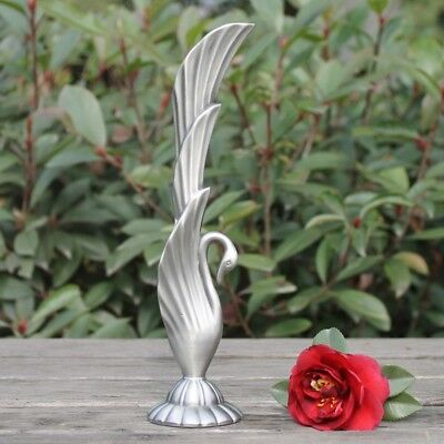 Stylish Swan Egyptian Arabian Metal Vase Carved Silver Vintage retro decor