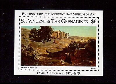 St. Vincent & The Grenadines 1996 #2265 S/s Vf Nh Metropolitan Museum !!