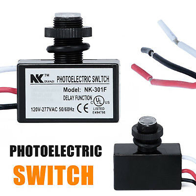 Photocell Dusk to Dawn Button Control Eye Photoelectric Switch Flush Mount US