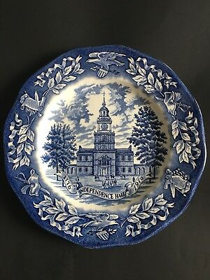 Vintage Avon 1976 Independence Hall Bicentennial Plate Representative Only