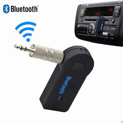 35mm USB Mini Bluetooth Wireless Aux Stereo Audio Music Car Adapter Rece GiftM