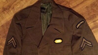 US Army Jacke (Ike) Gr. 38L US mit Patches