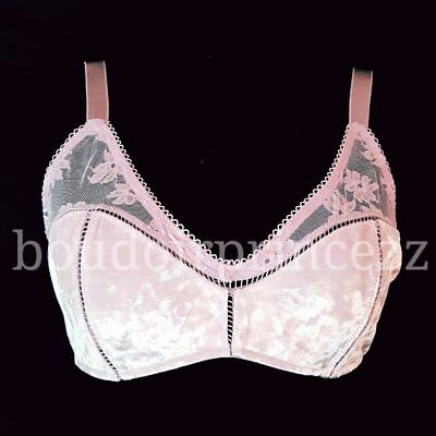 353755de2d Victorias Secret pink crushed velvet scoop Bralette Bra Large L 36 38 A B C  D