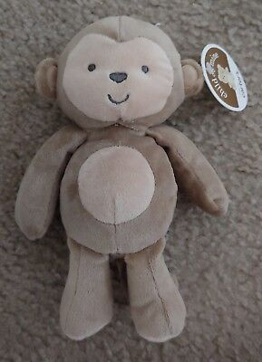 New Carters Child Of Mine Monkey Rattle Baby Toy Brown/Tan Plush COM Lovey