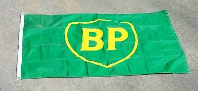 BP Gas Station 5 foot FLAG Not Porcelian Sign Texaco Gulf or Esso Oil