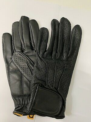 Real Leather Padded Palm Driving Gloves Mens Winter Gloves Chauffeur
