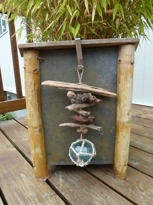 #4 Vintage Japanese Glass Fishing Float  And Driftwood Hanging