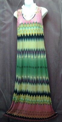 Wringle Free,geometric Print, Long Maxi Dress Sleeveless ,gown,sun Dress-L-#71